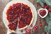 istock Cranberry Tart with browned butter crust 492963918