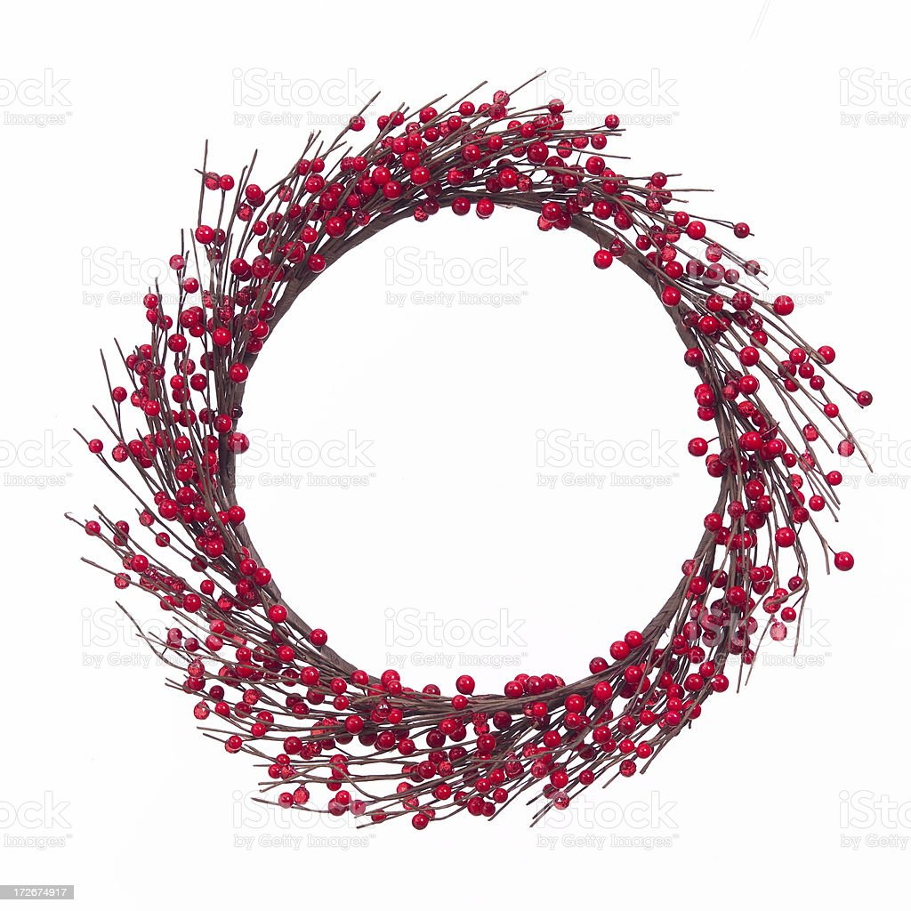 Cranberry wreath royalty-free stock photo