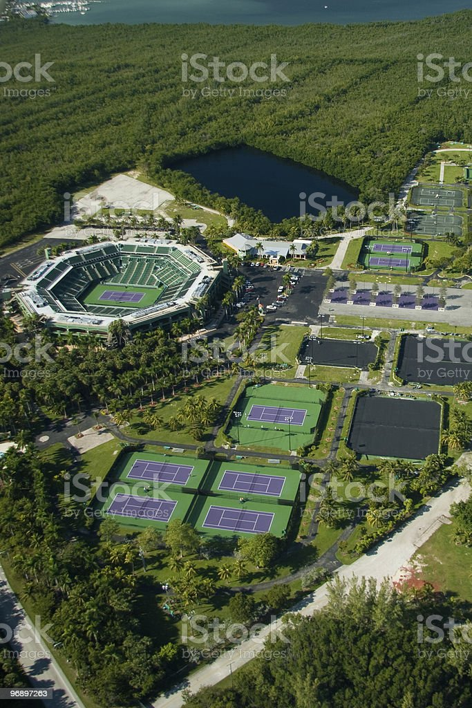 Crandon Park Tennis Center royalty-free stock photo