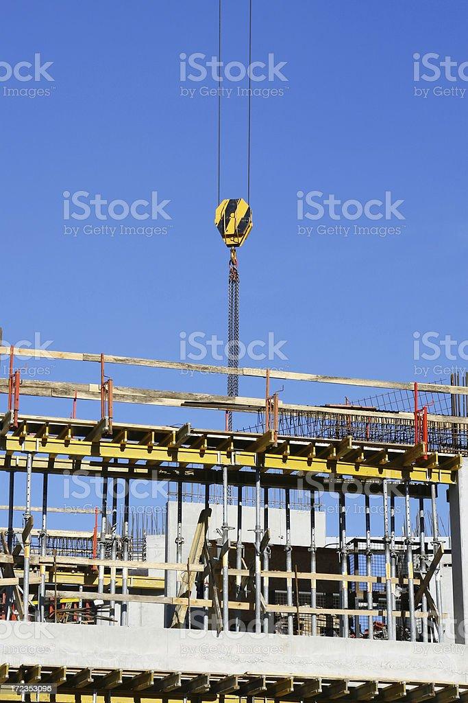 Crane y construcción foto de stock libre de derechos
