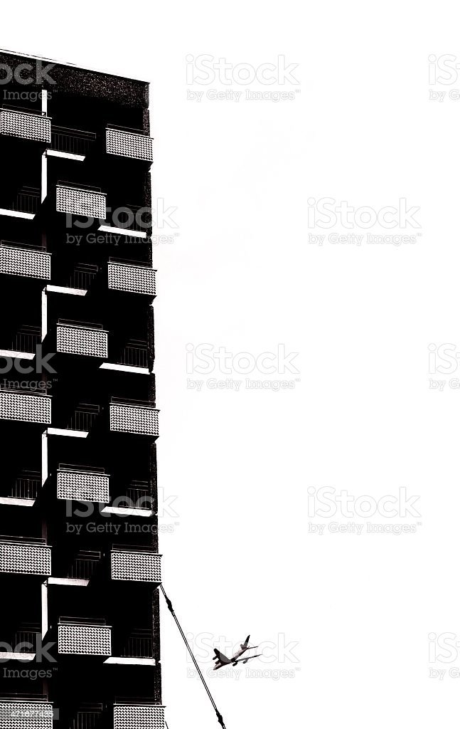 Crane and highrise royalty-free stock photo