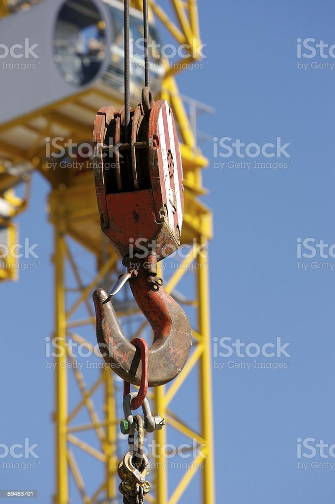 Crane and Hook royalty-free stock photo