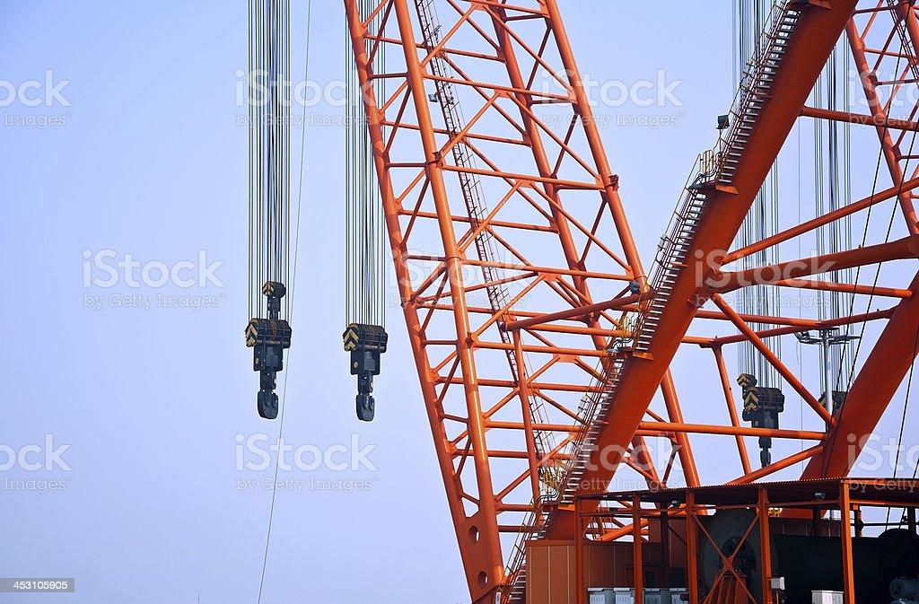 Crane Arm at Sunset stock photo
