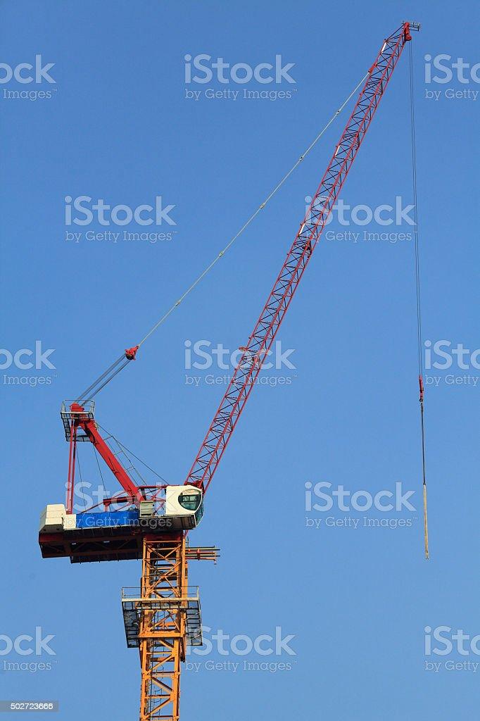 Crane at construction site stock photo