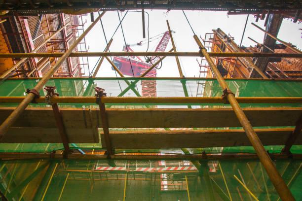 Crane at Highrise Construction Site