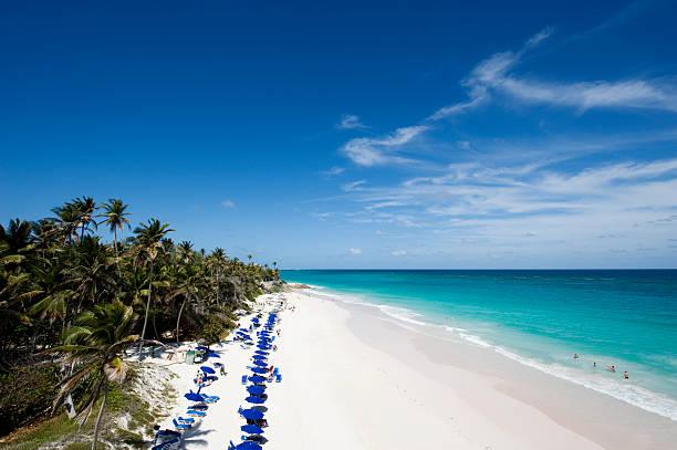 Crane Beach in Barbados stock photo