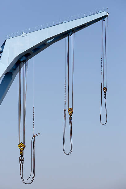 Crane Boom With Steel Hook Stock Photo - Download Image Now