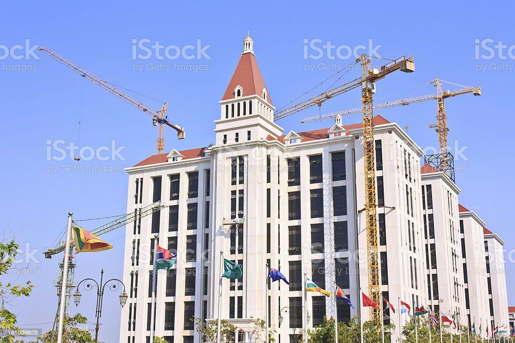 Crane building construction royalty-free stock photo