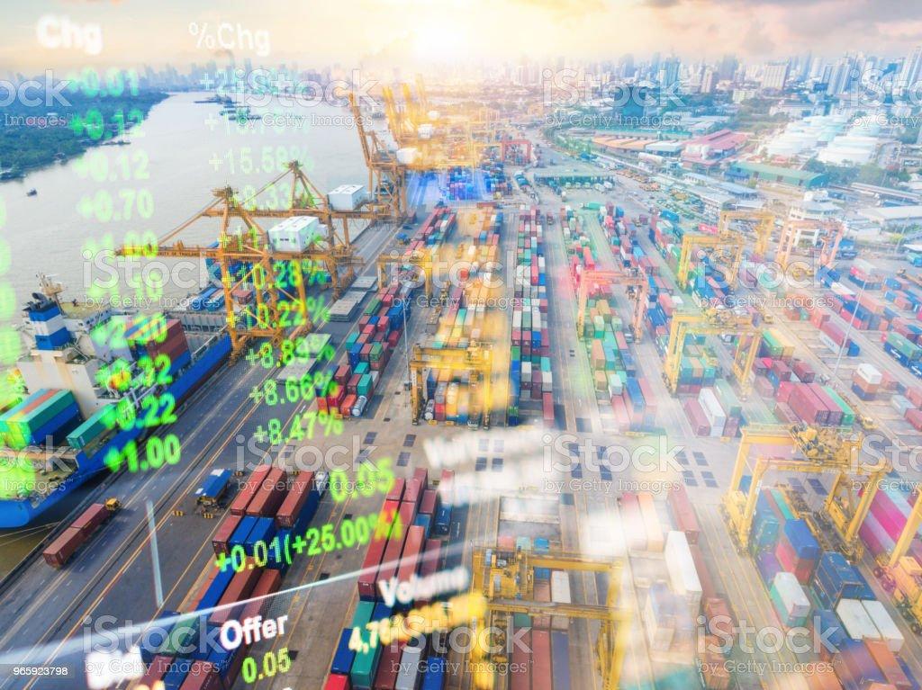 Crane cargo market and finance economic background - Royalty-free Adulto Foto de stock