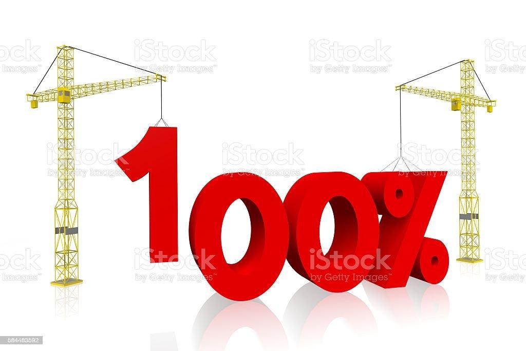 Crane concept - 100% stock photo