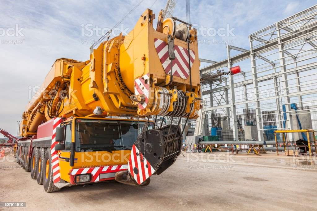 Crane - Construction Machinery stock photo