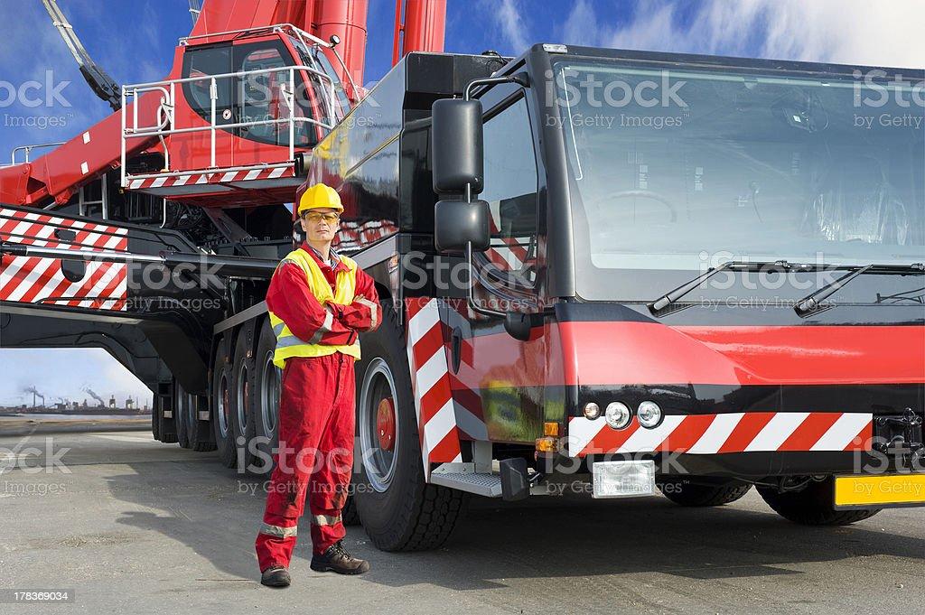 Crane driver royalty-free stock photo