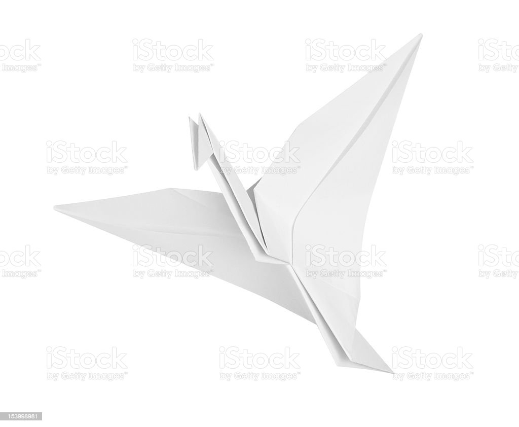 Crane from paper royalty-free stock photo