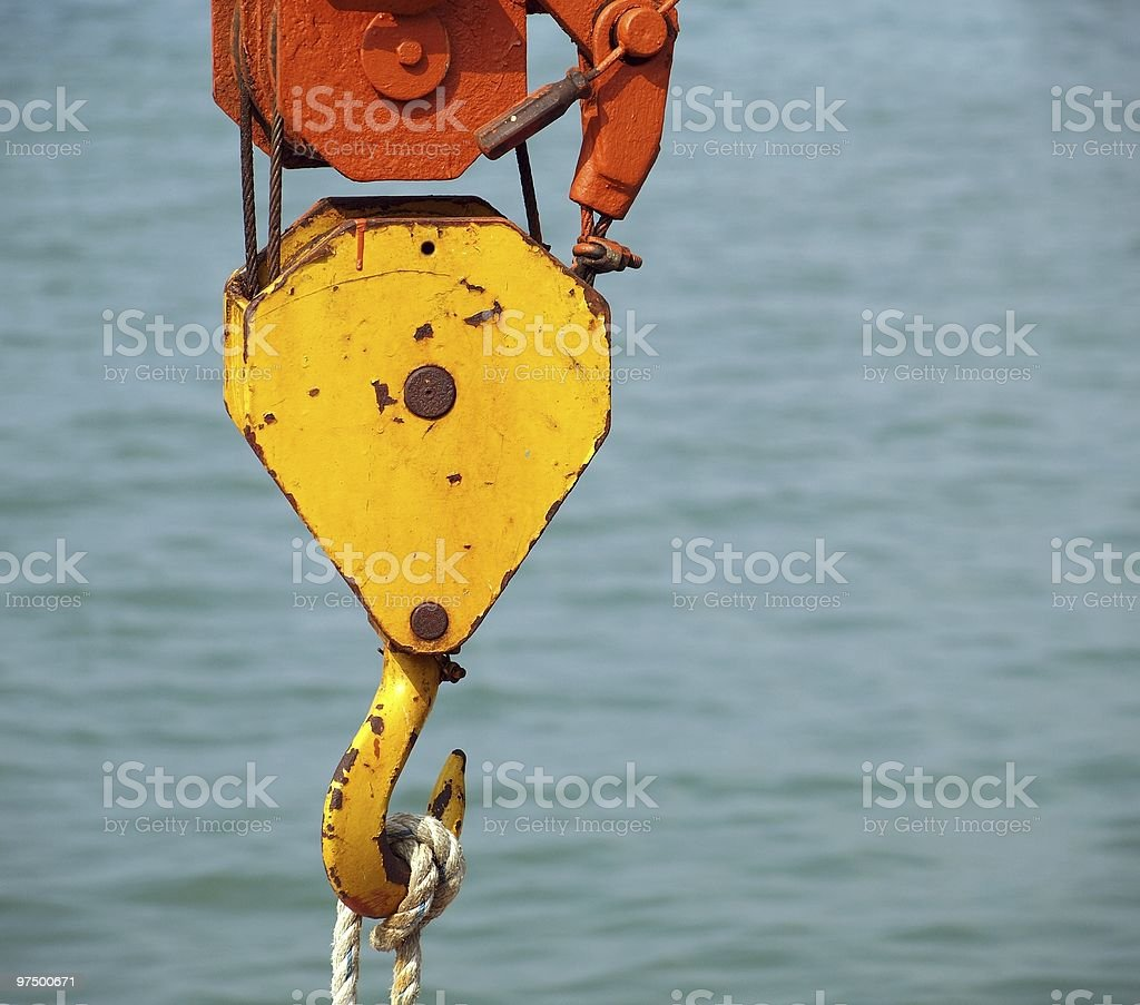 Crane Hook and Attachment royalty-free stock photo