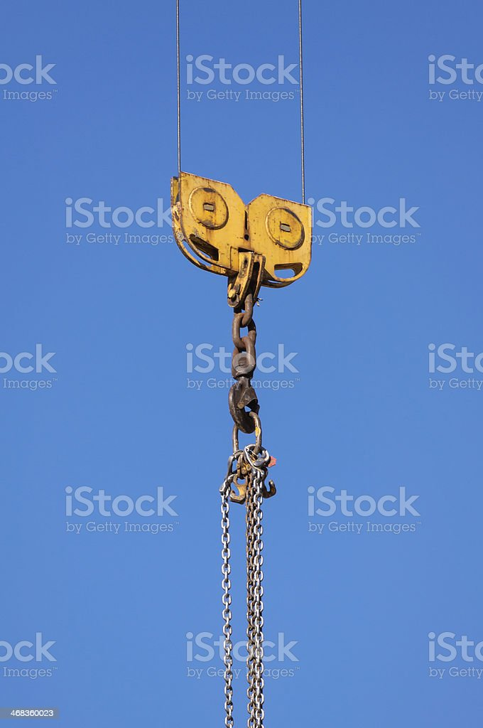 Crane hook royalty-free stock photo