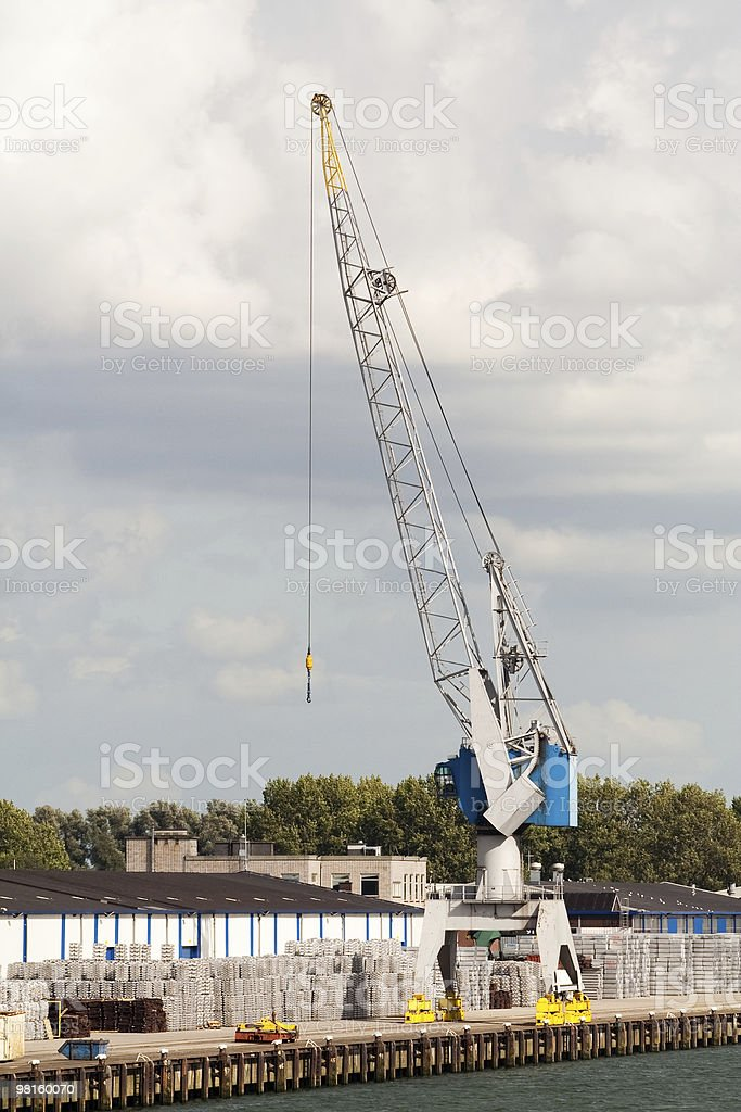 Crane in a port royalty-free stock photo