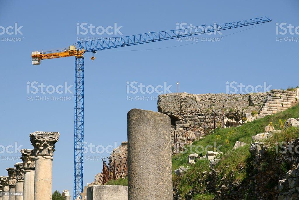 crane in Ephesus royalty-free stock photo