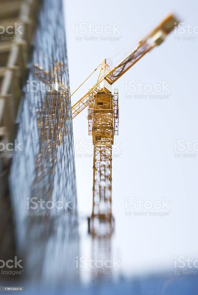 crane in motion royalty-free stock photo