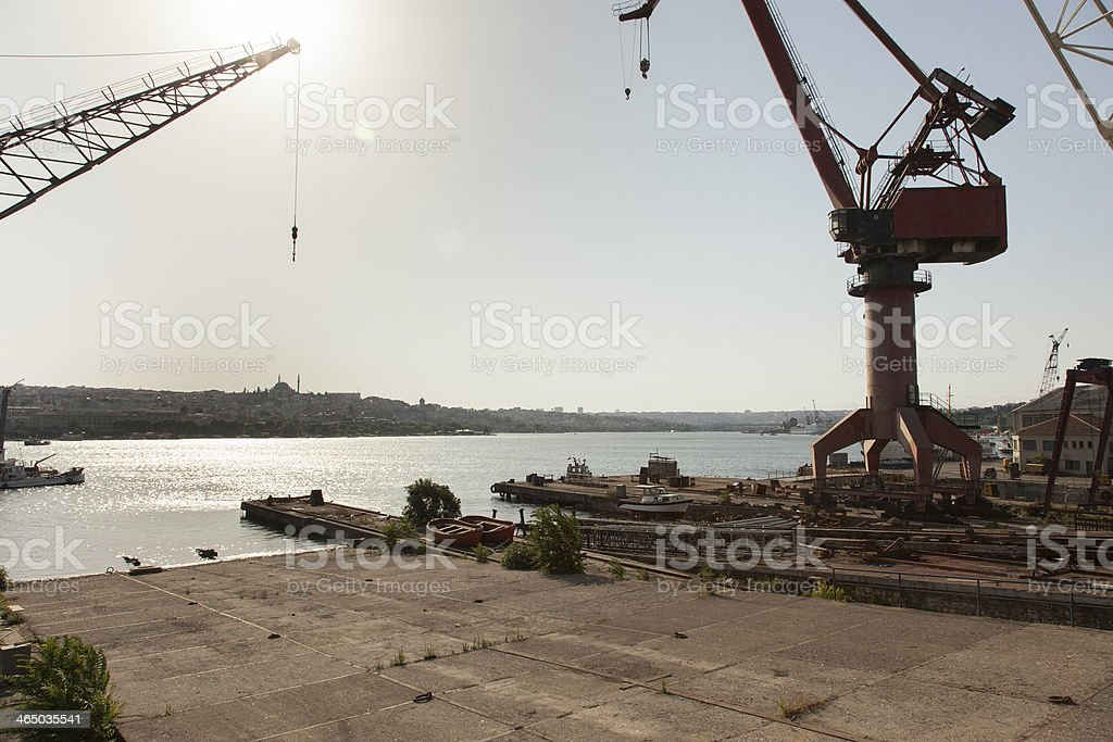 Crane in Shipyar royalty-free stock photo