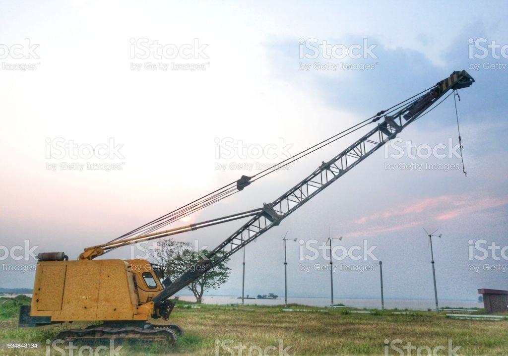 태국에서 크레인 - 로열티 프리 건설 산업 스톡 사진