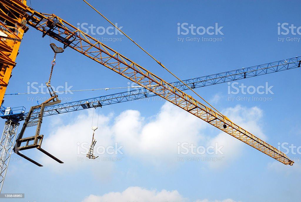 Crane intersection stock photo