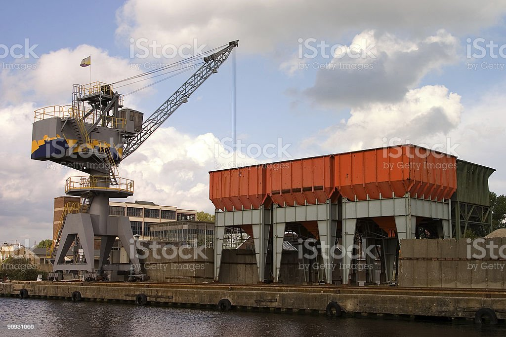 Crane landscape royalty-free stock photo