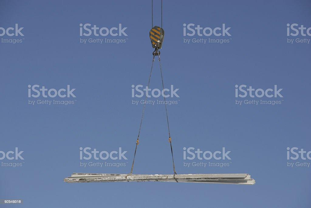 Elevación I-beams Crane - foto de stock