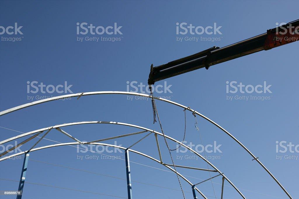Crane de elevación foto de stock libre de derechos