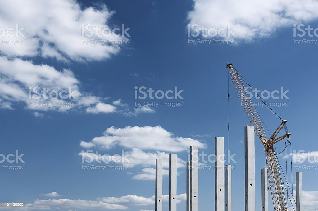 Crane on a construction site royalty-free stock photo