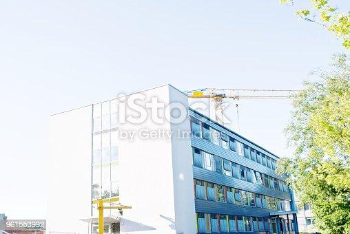istock Crane On A Construction Site 961553992