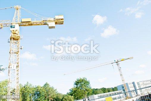 istock Crane On A Construction Site 961556284