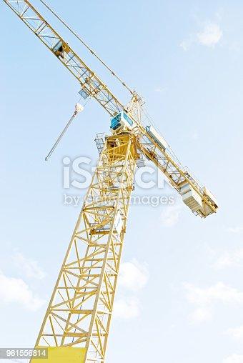 istock Crane On A Construction Site 961556814