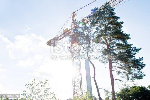 istock Crane On A Construction Site 961557276