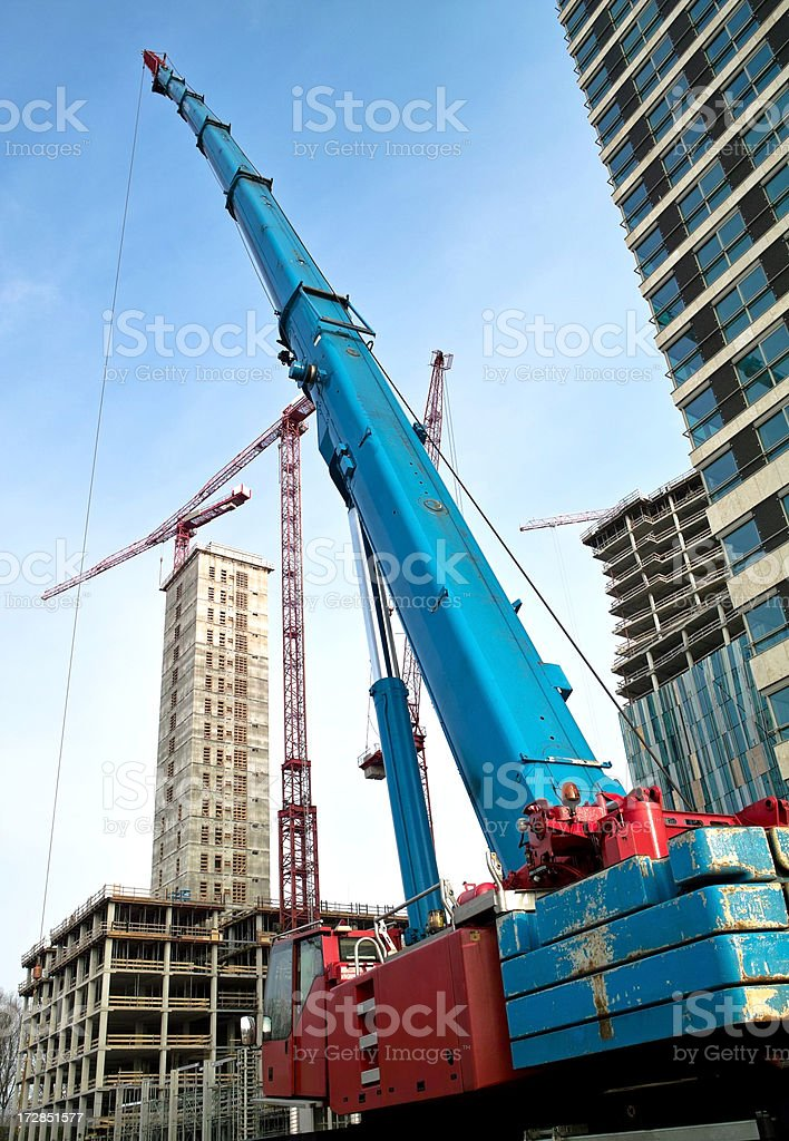 Crane on construction site royalty-free stock photo