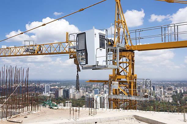 Crane on Construction Site stock photo