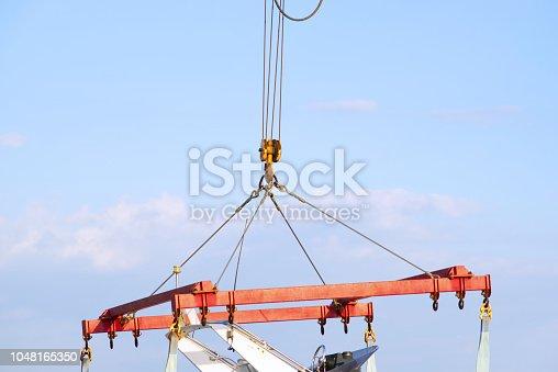 Working crane.