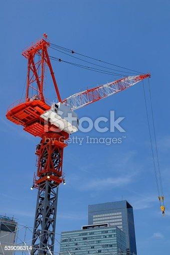 crane at sendai Japan