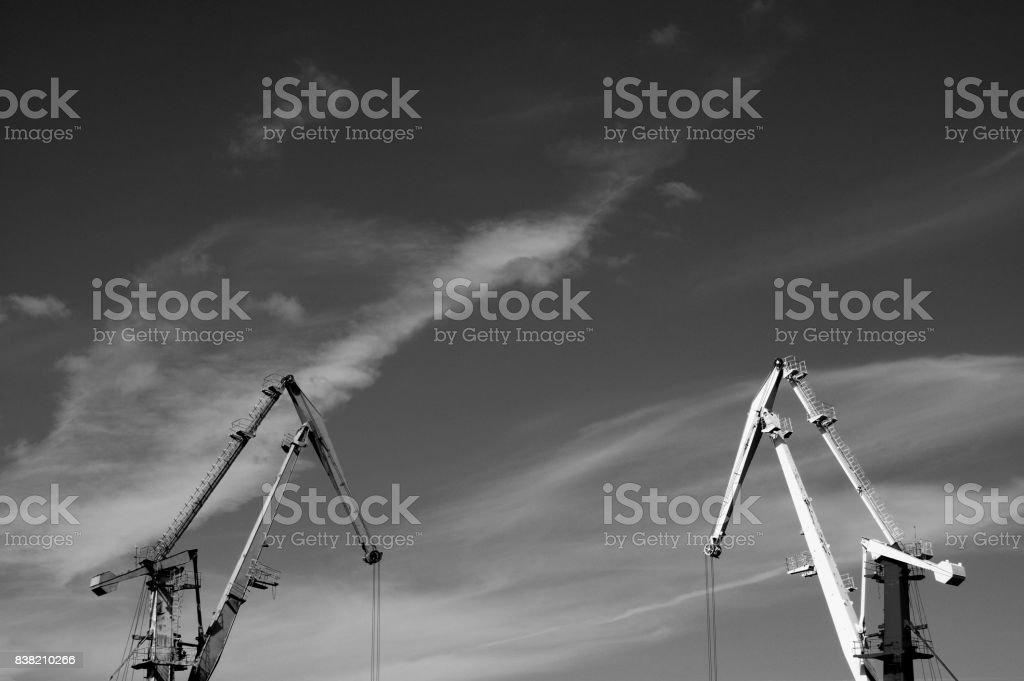 Crane stock photo