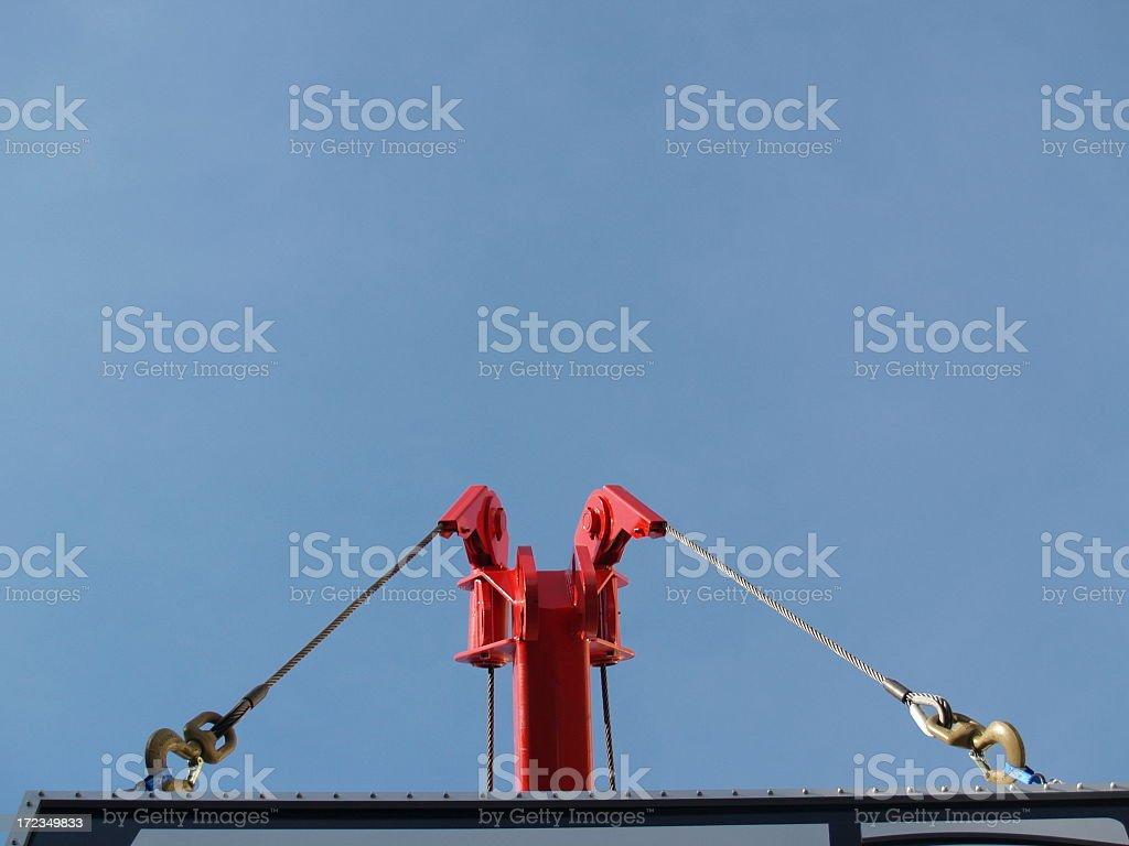 Crane Sign Lifting royalty-free stock photo