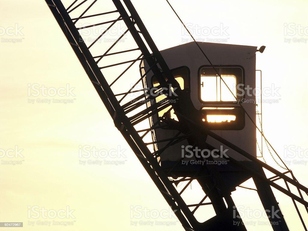 Crane Silhouette royalty-free stock photo