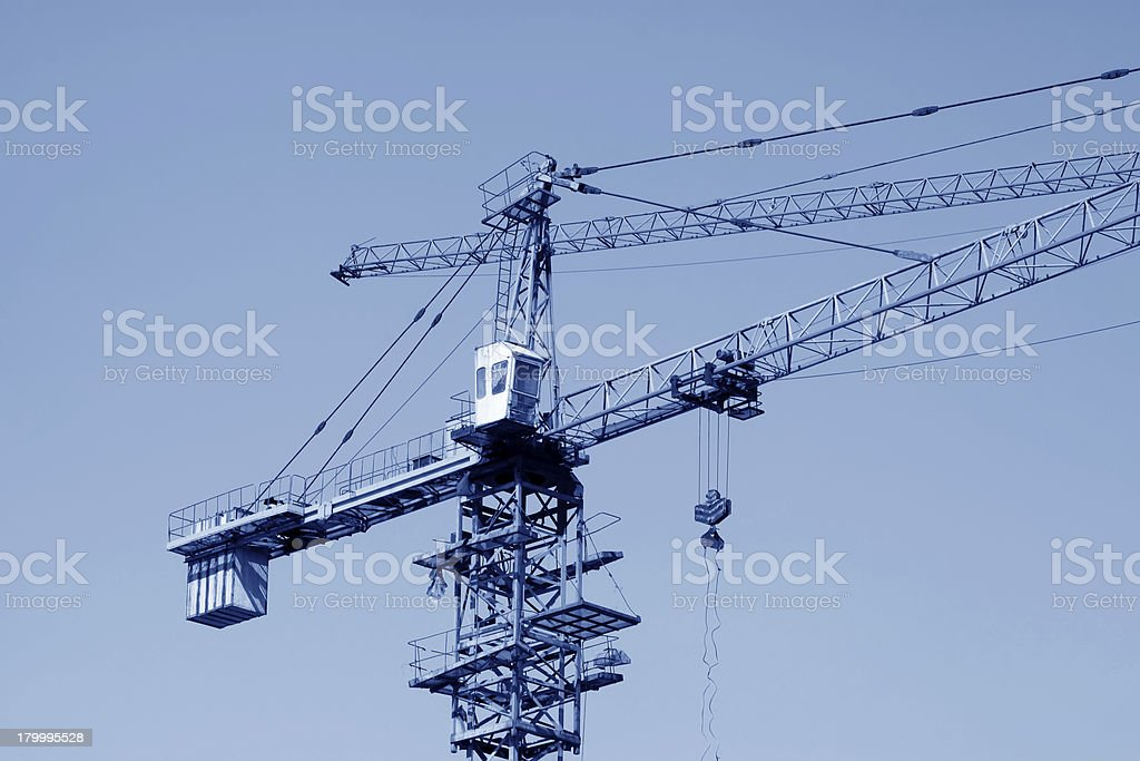 두루미 타워 건설 장비 royalty-free 스톡 사진