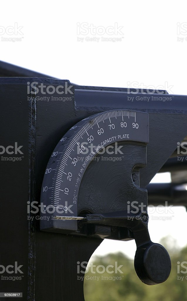 Crane-Heavy00017a  Boom Angle Indicator royalty-free stock photo