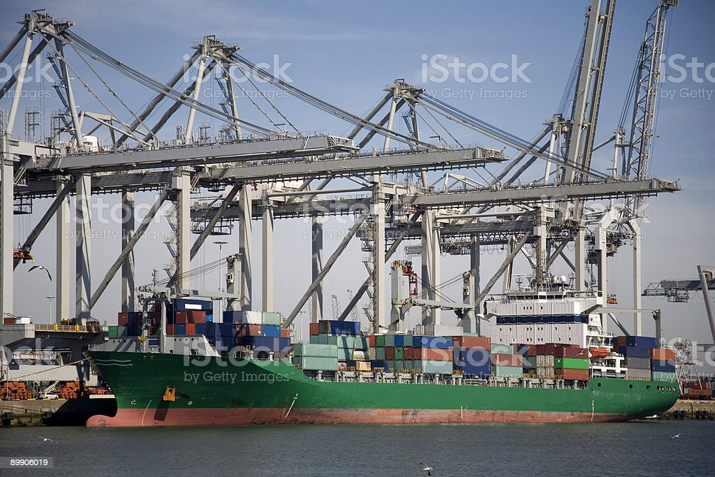 Cranes and carriers 2 royalty-free stock photo