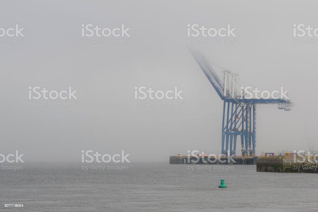 Cranes At A Port stock photo