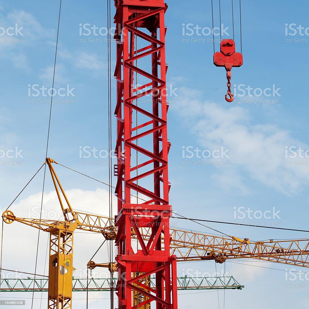 Cranes close up stock photo