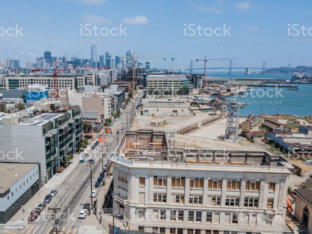 Cranes in Construction in San Francisco stock photo