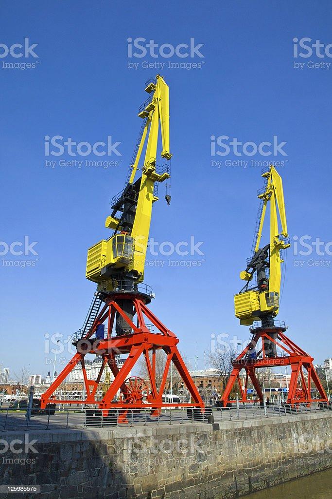 Cranes in Puerto Madero stock photo