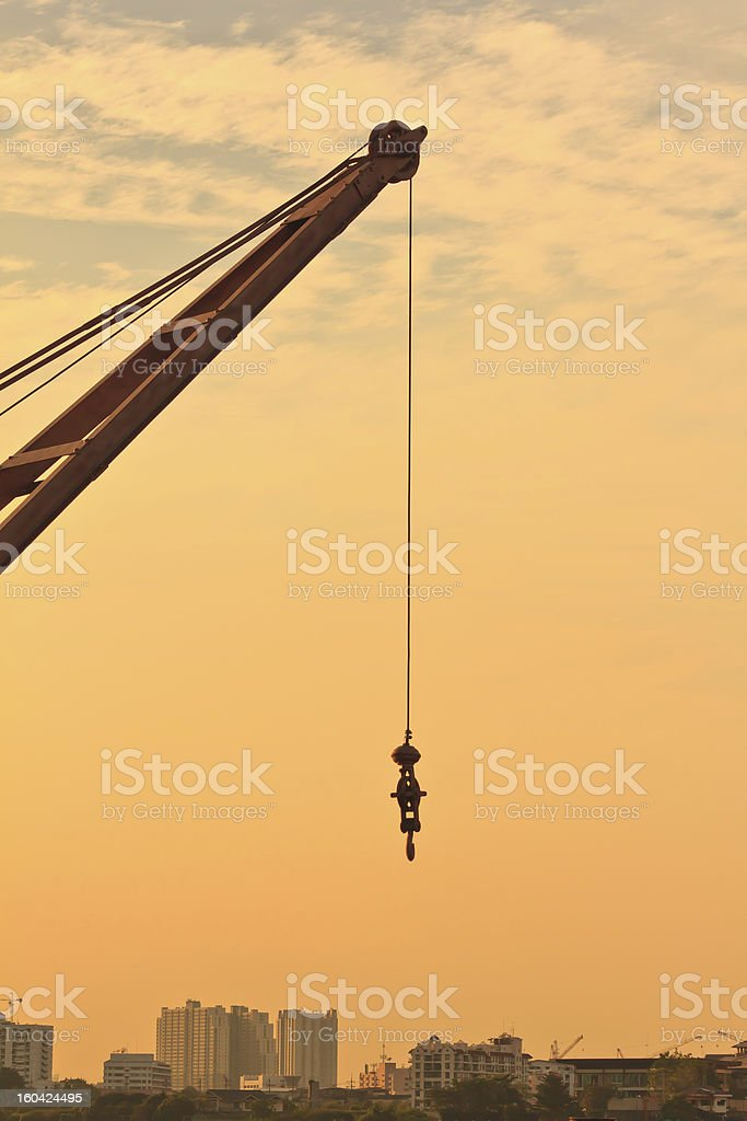 Cranes in the sky royalty-free stock photo