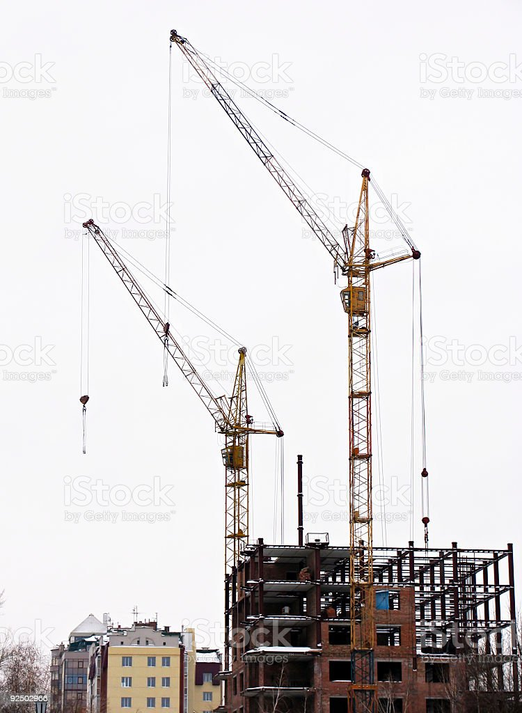 Cranes royalty-free stock photo