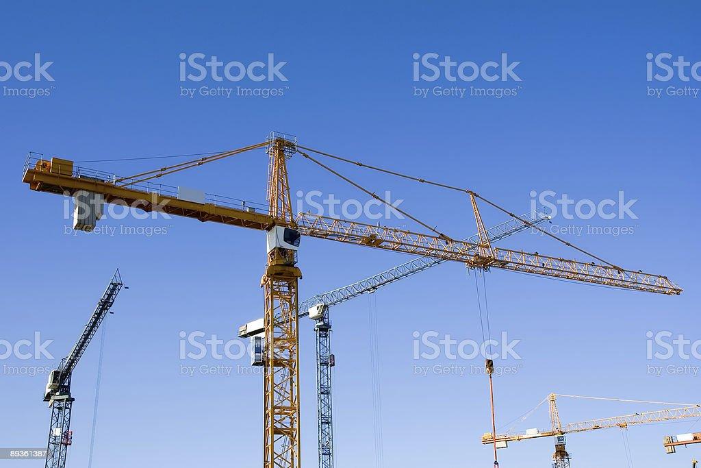 cranes3 royaltyfri bildbanksbilder